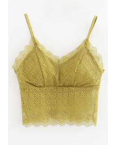 Floret Lace Cami Bustier Top in Ginger