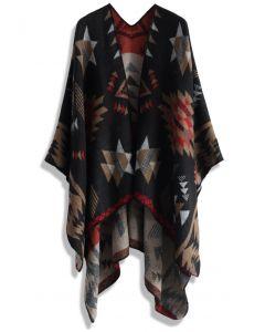 Chic Aztec Blanket Cape