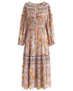 Wonderland Vacation Floral Maxi Dress